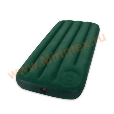 Надувные матрасы INTEX 76х191х22см(Cо встроенным ножным насосом)