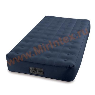 Надувные матрасы INTEX Super-Tough 102х191х23 см + насос 12/220В