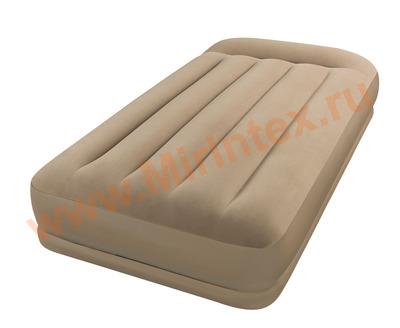 Надувные матрасы INTEX 102х203х35 см (с подголовником)
