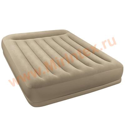 Надувные матрасы INTEX 152х203х35см (с подголовником с встроенным насосом 220В)
