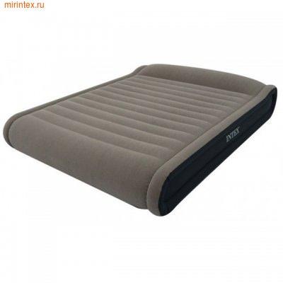 Надувные кровати INTEX Deluxe Pillow Rest 152х203х41 см (с насосом 220В)