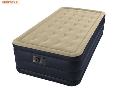 Надувные кровати INTEX Plush 99х191х46 см, с встроенным насосом 220В