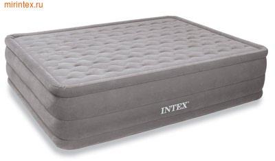 Надувные кровати INTEX Ultra Plush 152х203х46 см, с встроенным насосом 220В