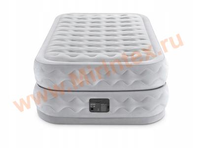 Надувные кровати INTEX Supreme Air-flow 99х191х51 см, с встроенным насосом 220В