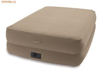 Надувные кровати INTEX Foam Top со встр.насосом 220В  152х203х51см