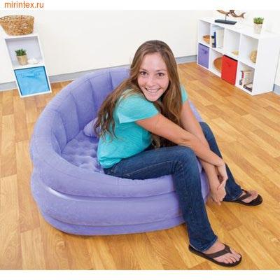 INTEX Кресло надувное 91х102х65 см (лиловое)