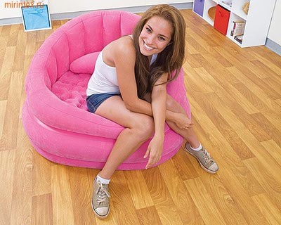 INTEX Кресло надувное 91х102х65 см (розовое)