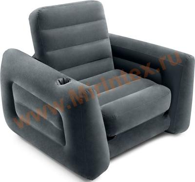 "INTEX 66551 Кресло-кровать трансформер ""Pull-Out Chair"" 117х224х66 см(без насоса)"