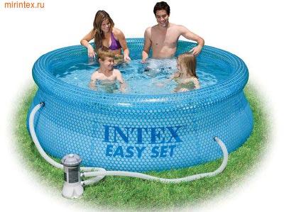 INTEX Бассейн надувной Clearview 244х76см с фильтр-насосом 220 В