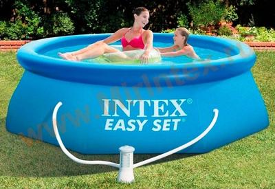 INTEX Бассейн надувной 244х76см с фильтр-насосом 220В