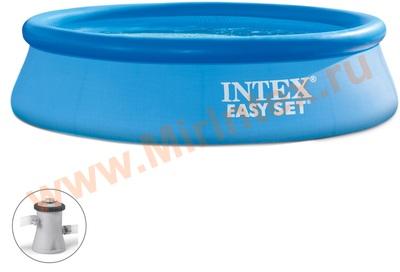 INTEX Бассейн надувной 305х76см с фильтр-насосом 220В