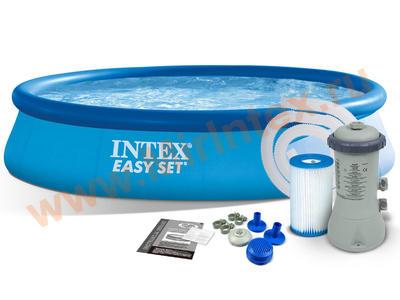 INTEX Бассейн надувной 366х76см (с картриджным фильтр-насосом 220 В)