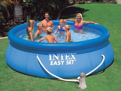 INTEX Бассейн надувной 366х91см с фильтр-насосом 220 В