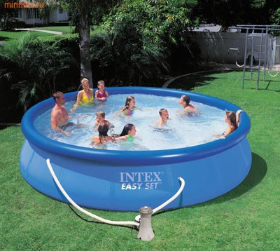 INTEX Бассейн надувной 457х91см (с фильтр-насосом 220 В)