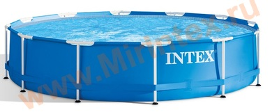 INTEX 28200 Каркасный бассейн Metal Frame 3.05 х 0.76 м.(без фильтр-насоса)