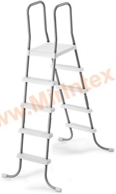 INTEX 28067 Лестница для бассейнов до 132 см, 4 ступеньки, с площадкой.