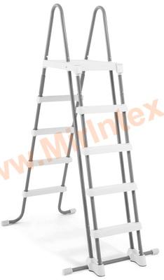 INTEX Лестница для бассейна 132 см (с площадкой)