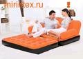 Bestway Диван-трансформер 5 в 1 188х152х64 см Оранжевый/чёрный (с насосом 220В)