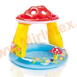 """INTEX Детский бассейн """"Грибок"""" с надувным дном 102х89 см (от 1 года)"""