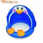 """INTEX Бассейн детский """"Пингвин"""" с надувным дном 102х83 см (от 1 года)"""