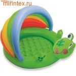 """INTEX Бассейн детский """"Лягушка"""" с надувным дном 114х99х69 см (от 1 года)"""