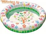 INTEX Бассейн Цветочки 112х25 см, от 3 лет