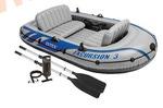 INTEX Лодка Excursion-3 SET 262х157х42 см (ручной насос, алюминиевые вёсла)