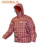 """NovaTour Куртка """"Селенга N"""" пуховая(Оранжевый/клетка)"""