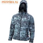 """NovaTour Куртка """"Сити"""" софтшелл мужская(Серый принт 114)"""
