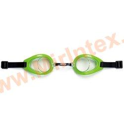 INTEX Очки для плавания(Зелёные) Play Goggles, 3-10 лет