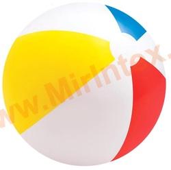 INTEX 59020 Мяч пляжный «Цветной», d=51 см, от 3 лет.