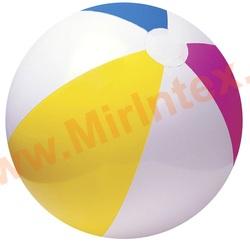 INTEX 59030 Мяч пляжный «Цветной», d=61 см, от 3 лет.