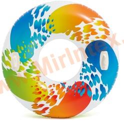 INTEX 58202 Круг для плавания «Цветной вихрь», d=122 см, от 9 лет.