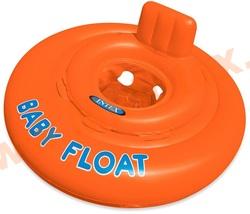 INTEX 56588 Круг для плавания My Baby float, с сиденьем, d=76 см, от 1-2 лет. (без насоса)