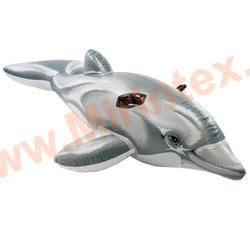 INTEX Плотик Дельфин 175х66 см, от 3 лет