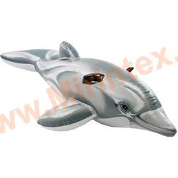 INTEX Плотик Дельфин 201х76 см, от 3 лет