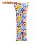INTEX Матрас с рисунком с подголовником 183х69см, (цветочки)