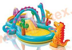"""INTEX 57135 Игровой центр с бассейном и распылителем """"Планета динозавров"""" 302х229х112 см."""