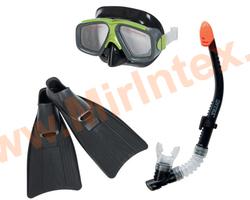 INTEX Набор маска, трубка, ласты Surf Rider, от 8 лет