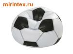 """INTEX Кресло надувное """"Футбольный мяч"""" 108х110х66 см"""