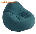 INTEX Кресло надувное 122х127х81 см (темно-зеленый)