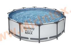 Bestway Бассейн каркасный круглый Steel Pro MAX 366х100 см (фильтр-насос 220В)
