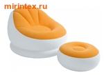INTEX Кресло надувное с пуфиком (оранжевое)