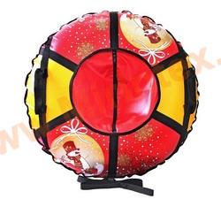 Санки-ватрушка Новый Год 93 см с автокамерой
