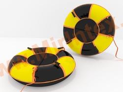 Санки-ватрушка Мультиколор-2, ж/чер. 100 см с автокамерой