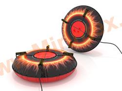 Санки-ватрушка Пламя 100 см с автокамерой
