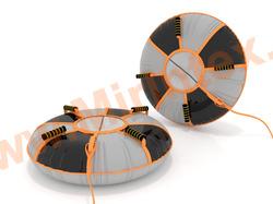 Санки-ватрушка Эллипс-Е 60х70см с автокамерой