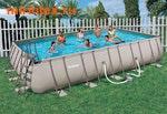 Bestway Бассейн каркасный прямоугольный 671х366х132 см (видео, фильтр-насос 5,6 м3/ч, настил, тент, лестница)