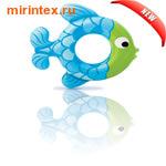 INTEX Круг Рыбки 77х76см,(бирюзово-синий)