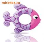 INTEX Круг Рыбки 77х76см,(бордо-розовый)